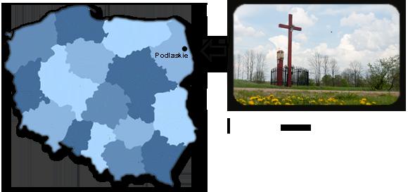 Mapa Polski z Raduninem