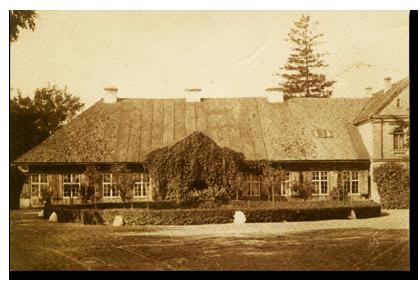 Dwór w Raduninie - zdjęcie z 1913 r.