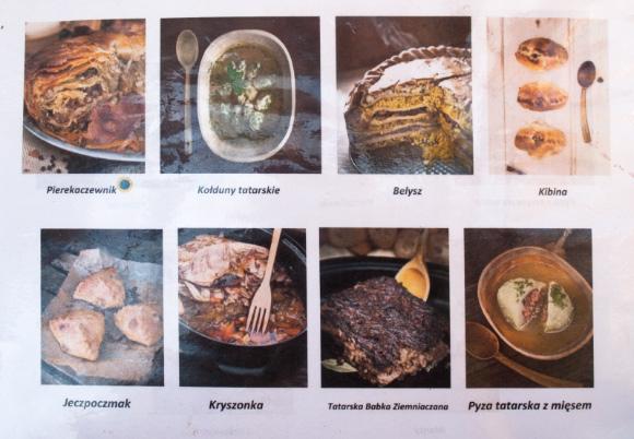 Menu kuchni tatarskiej.