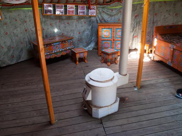 Wnętrze jurty tatarskiej (»Tatarska Jurta« - Kruszyniany).
