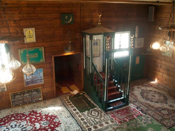 Wnętrze meczetu w Kruszynianach.