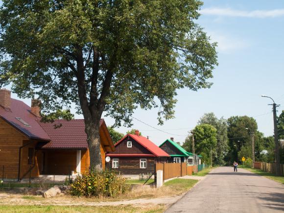 Wieś Kruszyniany.