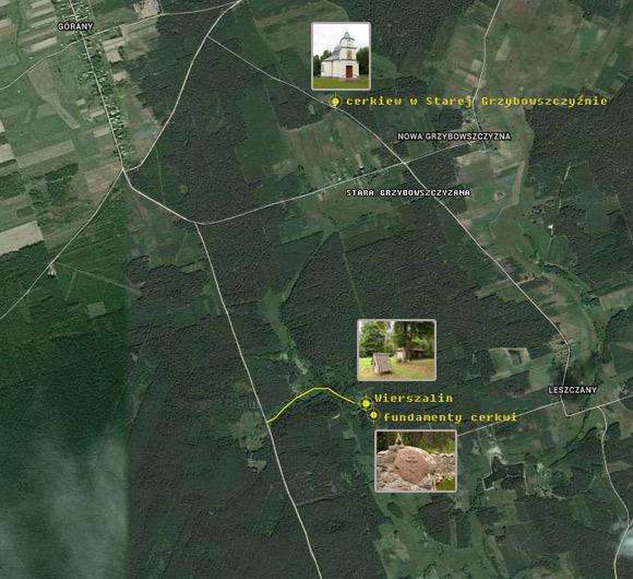 Plan dojazdu do Wierszalina.