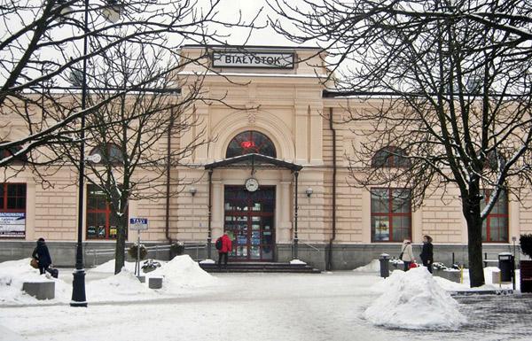 Dworzec carski w Białymstoku. Fot. A. Kasperowicz, 2013 r.